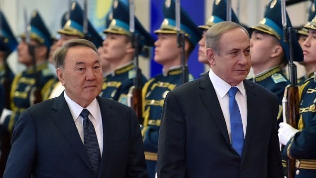 بنیامین نتانیاهو، نخستوزیر اسرائیل، و نورسلطان نظربایف در آستانه