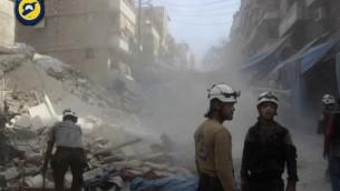 حلب، سوریه (12 اکتبر 2016) (عکس: Syrian Civil Defense- White Helmets via AP)