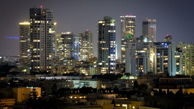عکس تزئینی - منظرهی تلآویو در شب