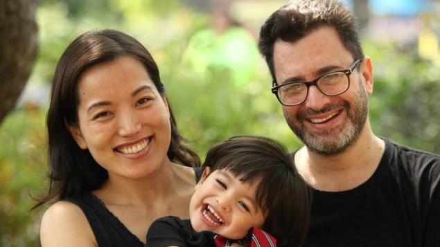 پال گولین ، همسرش و پسرشان