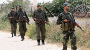 نیروهای امنیتی حماس در مرز غزه و مصر