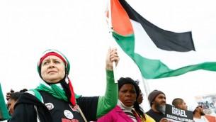 تظاهرکنندگان حامی فلسطین، حامی کارزار بایکوت، مشروعیتزدایی، تحریم علیه اسرائیل