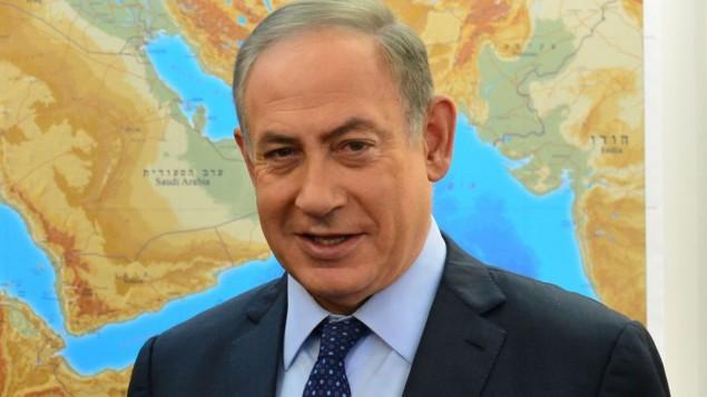 ملاقات بنیامین نتانیاهو نخست وزیر با گری ای. دیکنسون مدیر عامل کمپانی اپلاید ماتریال (که در عکس نیست) در دفتر نخست وزیر در اورشلیم، ۲۳ ژانویهی ۲۰۱۷