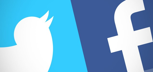فیسبوک و تونیتر