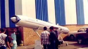 توضیح تصویر: یک موشک یاخنوت در نمایش هوایی روسیه در ۱۹۹۷