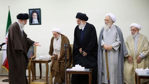 برخی از اعضای خبرگان رهبری در دیدار با علی خامنه ای