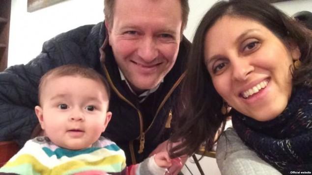 نازنین زاغری، شهروند ایرانی-بریتانیایی به همراه همسر و فرزندش