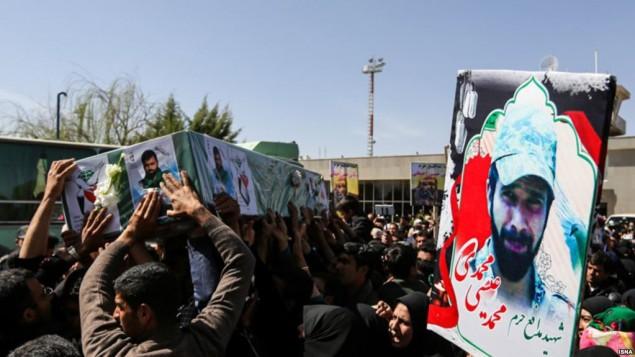 تشییع جنازه برخی از کشته شدگان در سوریه