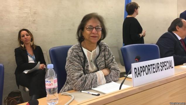 عاصمه جهانگیر گزارشگر ویژه سازمان ملل در امور حقوق بشر ایران