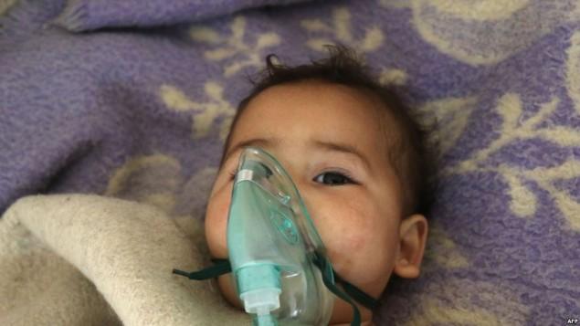 کودکان سوری پس از حملات شیمیایی