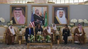 ترامپ و شاه سعودی