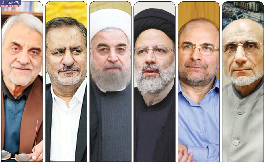 نامزدهای انتخابات 96 رژیم ایران