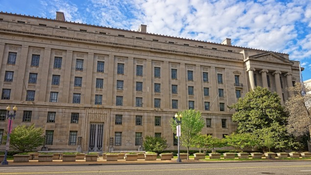 توضیح تصویر: وزارت دادگستری ایالات متحده در واشنگتن