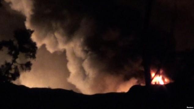 تصویری از انفجار