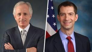 سناتور کاتن (راست) و کورکر تهیه کننده پیش نویس جدید برای نظارت بیشتر بر برجام هستند