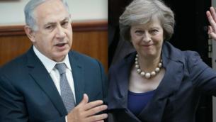 توضیح تصویر: بنیامین نتانیاهو نخست وزیر و ترزا می