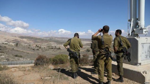 نظامیان اسرائیل در مرز سوریه