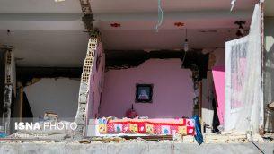 نمایی از زلزلۀ مرگبار در ایران