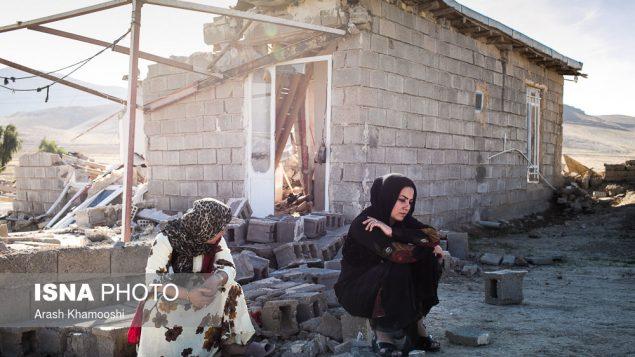 نمایی از زلزله در ایران
