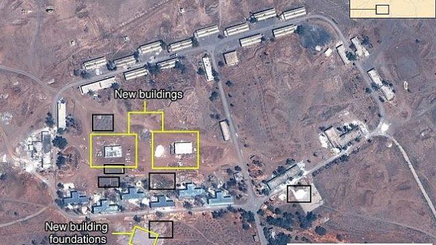 توضیح تصویر: تصویر ماهوارهای منسوب به پایگاه نظامی ایران در سوریه