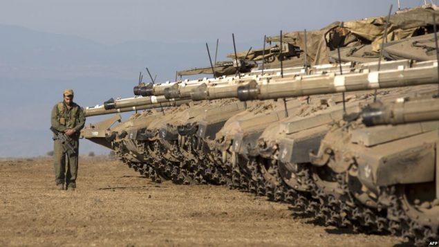 تانک های اسرائیل در مرز سوریه