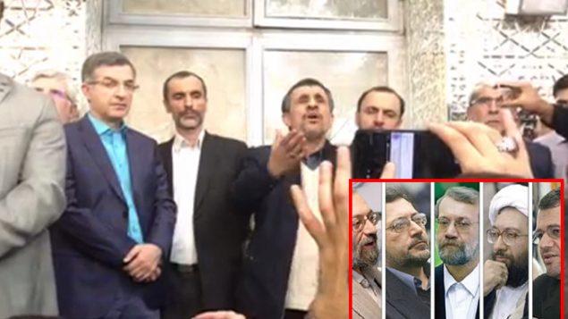 احمدی نژاد در دفاع از بقایی سخنرانی می کند