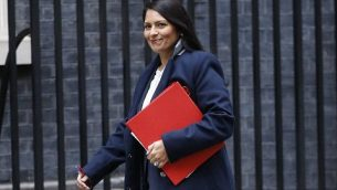 پریتی پتل وزیر توسعهی بینالمللی بریتانیا
