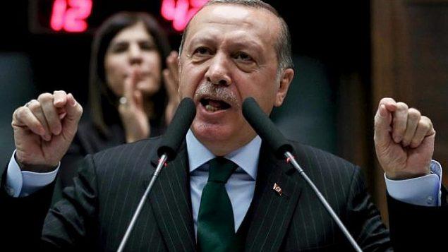 توضیح تصویر: رجب طیب اردوغان رئیس جمهور ترکیه حین سخنرانی در شورای بزرگ ملی ترکیه در آنکارا – ۵ دسامبر ۲۰۱۷