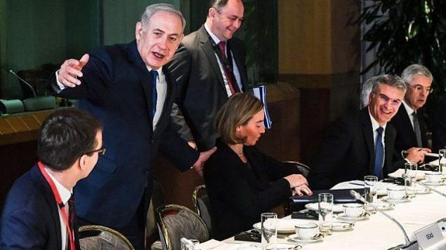 نخست وزیر بنیامین نتانیاهو در اتحادیه اروپا
