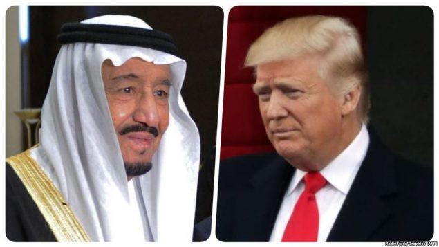 رهبران آمریکا و عربستان