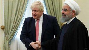 رئیس جمهور ایران و وزیر خارجه بریتانیا