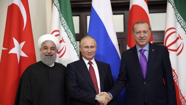 اردوغان، پوتین، روحانی