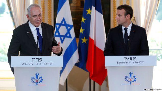 رهبران اسرائیل و فرانسه