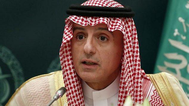 توضیح تصویر: وزیرخارجهی سعودی عادل الجبیر حین گفتگو با خبرنگاران به همراه رکس تیلرسون وزیرخارجه ایالات متحده – ۲۲ اکتبر ۲۰۱۷