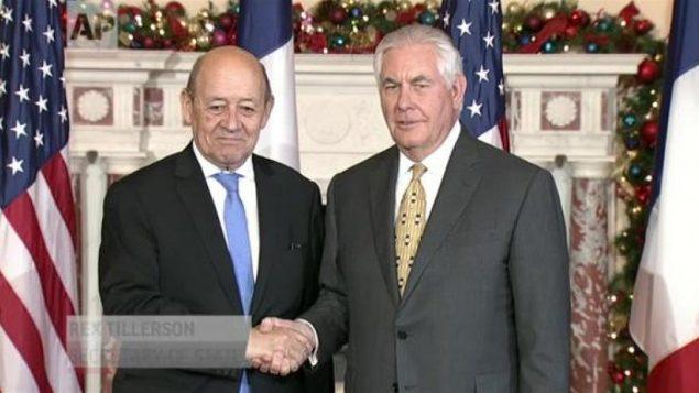 وزرای خارجه آمریکا و فرانسه