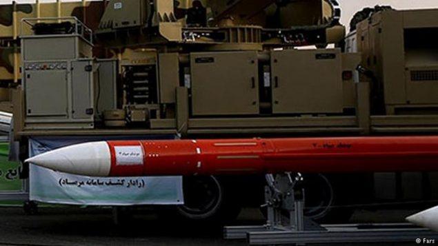 یکی از موشکهای سپاه
