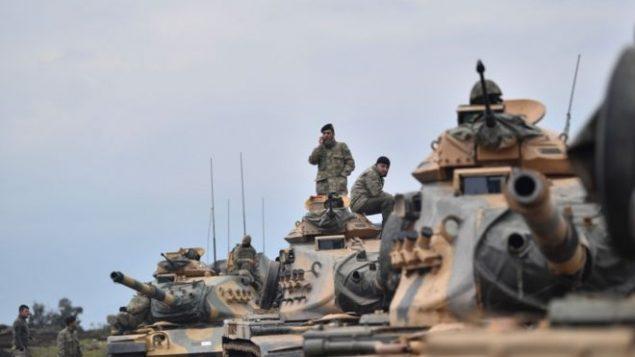 صحنه ای از حملات ترکیه به سوریه