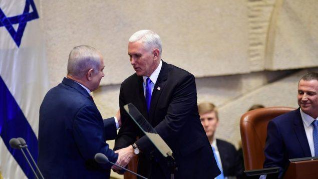 مایک پنس و بنیامین نتانیاهو
