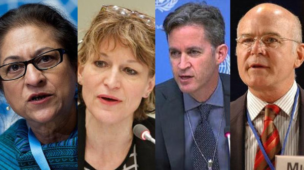 چهار گزارشگر سازمان ملل