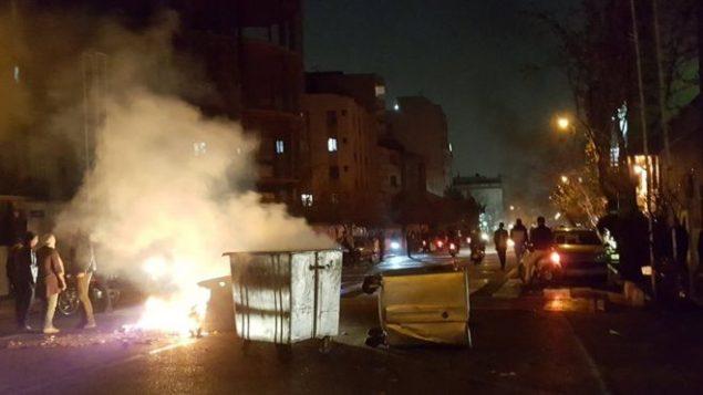 صحنه ای اعتراضات ایران