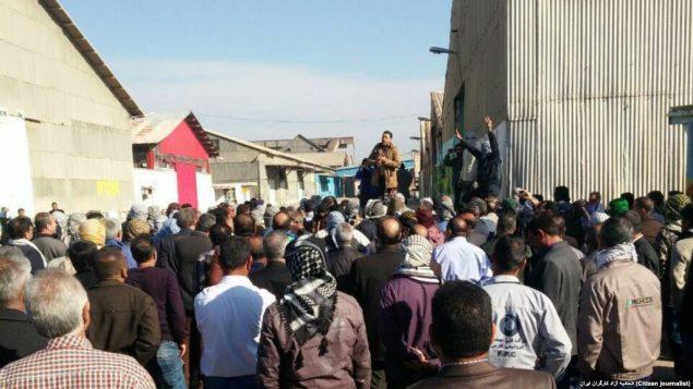 کارگران معترض در هفت تپه