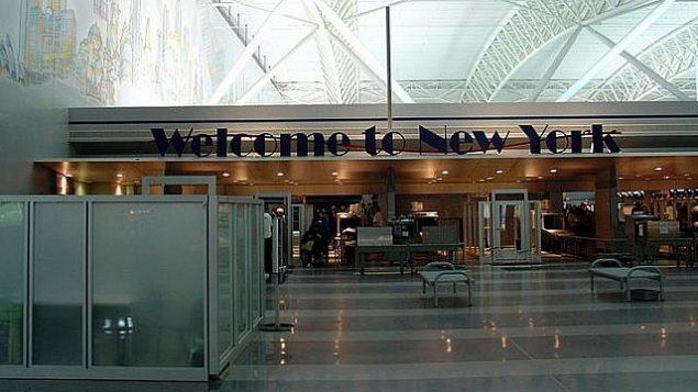 توضیح تصویر: ترمینال ۹ فرودگاه جان اف. کندی نیویورک. (photo credit: Martin St-Amant/Wikimedia Commons/File)