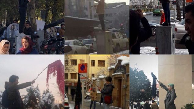 تعدادی از معترضان به حجاب اجباری