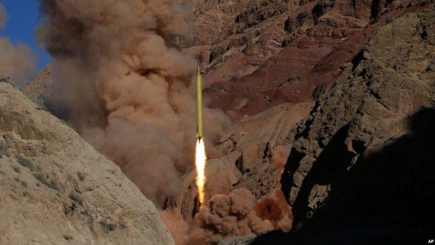 تست موشکی در ایران
