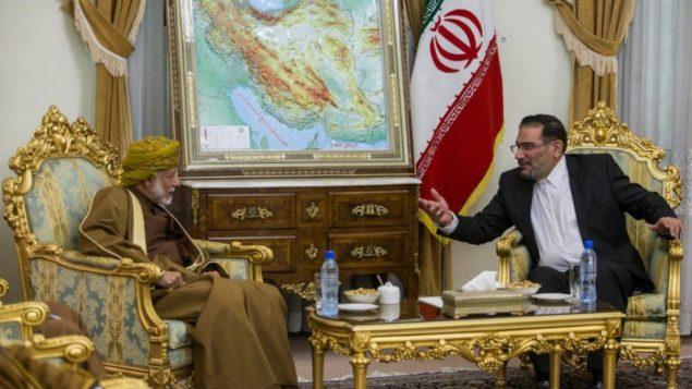 علی شمخانی دبیر شورای عالی امنیت ملی در دیدار با یوسف بن علوی وزیر امور خارجۀ عمان