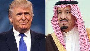 ملک سلمان بن عبدالعزیز پادشاه سعودی و دونالد ترامپ رئیسجمهوری آمریکا