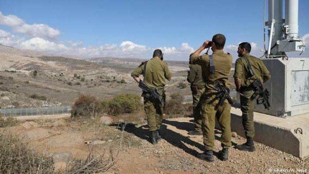 سربازان اسرائیل در مرزبا سوریه