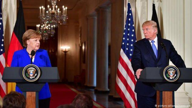 ترامپ در نشست خبری مشترک با مرکل