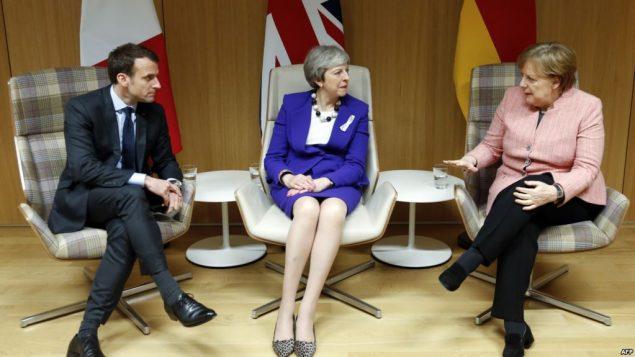 رهبران آلمان و بریتانیا و فرانسه