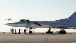 هواپیمای روس در فرودگاهی در ایران